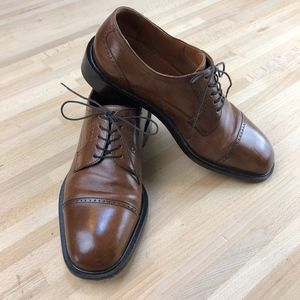 Cognac Cap Toe Oxfords (great for guys or gals!)